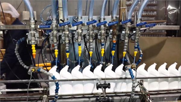 Vollautomatische lineare Abfüllmaschine für WC-Reiniger-Bleichmittel
